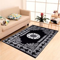 Home Elite Chenille Carpet,5x7 Feet,Black