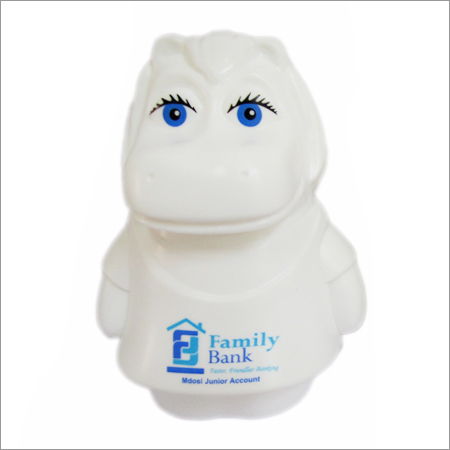 Animal shaped hippo  plastic money box