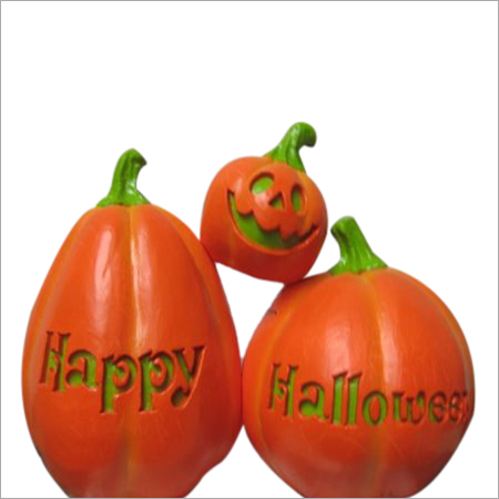 Halloween Plastic Pumpkins in 3 parts with bulb inside