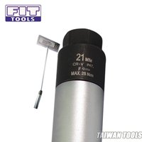 FIT TOOLS 21mm Dr. Right Force Fasten Spark Plug Torque Limited Socket w/ T Handle