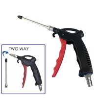 FIT TOOLS Two Way Air Duster Blow Gun w/ Flow Adjustable and 110mm Long Nozzle
