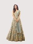 LIGHT BLUE Net Abaya Style Anarkali Suit