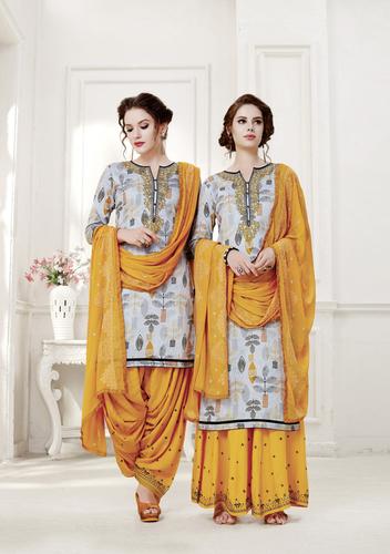 Exclusive designer Prited Patiala Suits