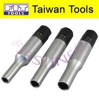 FIT TOOLS 3 PCS 8, 10, 12 mm Glow Plug Torque Limited Socket Kit