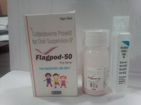 Cefpodoxime 50mg/5ml ) WFI with Carton & Measuring cup