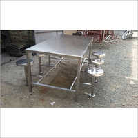 SS Folding dining table