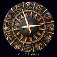 Wall Clock Terracotta