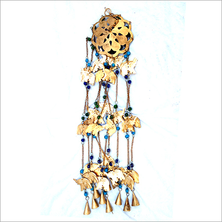 Golden Elephant Designed Hanging Bell