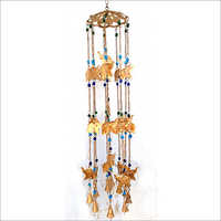 Golden Elephant Designed Iron Hanging Bell