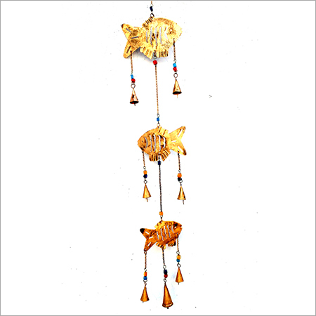 Golden Fish Designed Hanging Bell