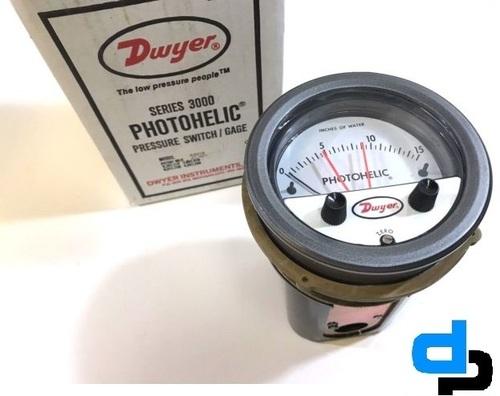 Dwyer 3100MRS Photohelic Switch/Gauge 0 to 100 inch
