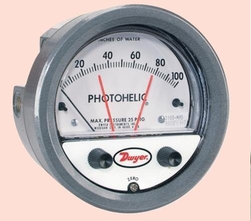 Dwyer 3000MRS Photohelic Switch/Gauge 0 to 100 MM