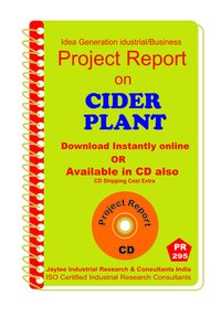 Cider Plant manufacturing Project report eBook