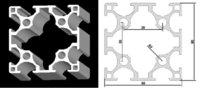 60*60 T slot Medium Aluminium Profile