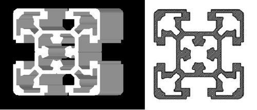 50*50 T Slot Aluminium Profile