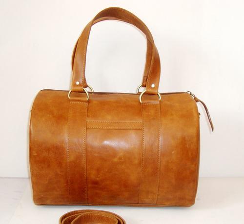 Brown Leather Top Handle Bag