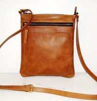 Women Zipper Leather Tote Bag