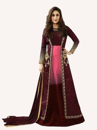 Kareena Kapoor Pink Art Silk Anarkali Suit