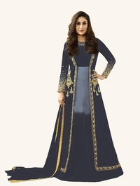 Kareena Kapoor Grey Anarkali Suit