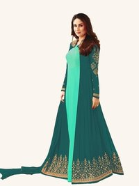 Kareena Kapoor Skyblue N Green Anarkali Suit