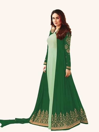Kareena Kapoor Light green N dark Green Anarkali Suit