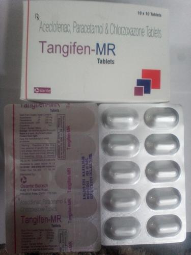 Aceclofenc 100mg + Paracetamol 325mg + Chlorzoxazone 250mg Tablets