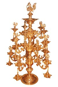 ORNAMENTAL BRASS BRANCHES LAMP