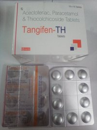 Aceclofenac 100mg + Par 325mg + Thiocolchicoside 4 mg Tablets