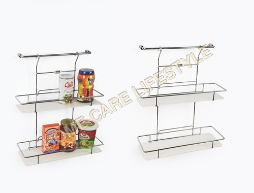 Hanging Double Shelf Euro (With 12 inch Rod)