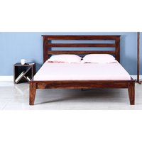 Kilton Solid Wood Handcrafted King Bed in Walnut Finish by Wudstuk