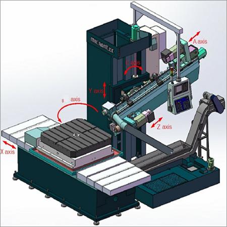 Automatic Drill Head Tilt Deep Hole Drill Machine