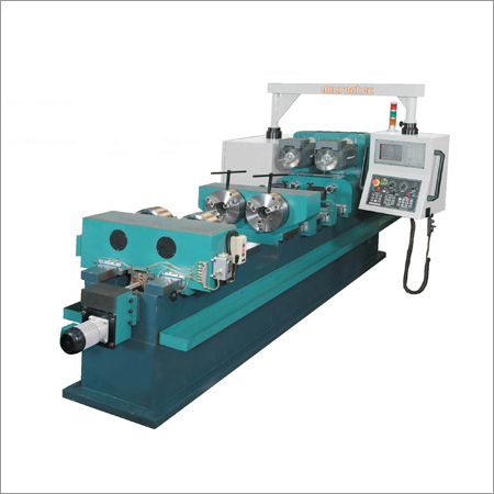 Manual Horizontal Two Center Holes Drilling Machine