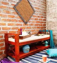 Era Handcrafted  Upholstered Bench