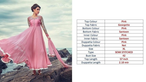 Stylish Pink Gown Dresses