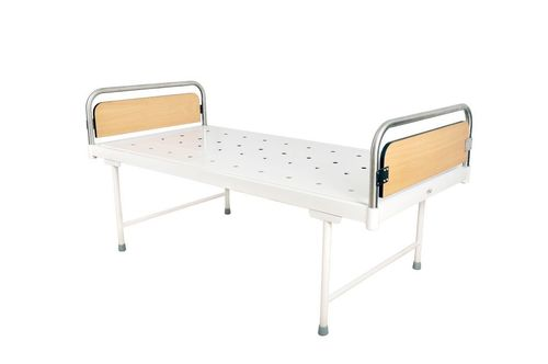 Plain bed with SS laminated head & foot panels