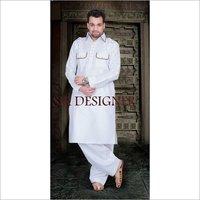 White Pathani Kurta Pyjama