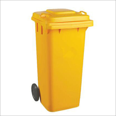 Yellow Wheel Dust Bin