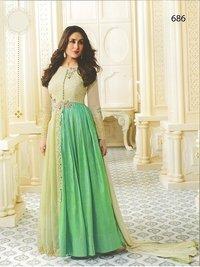 Kareena Kapoor Beige N Maroon Kareena Kapoor Cream N Green Anarkali SuitAnarkali Suit
