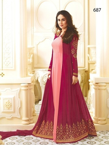 Kareena Kapoor Peach N Maroon Anarkali Suit