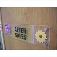 Acrylic Door Fittng Name Plate