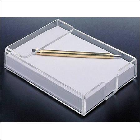Acrylic Table Top Photo Frame Cum Pen Stand