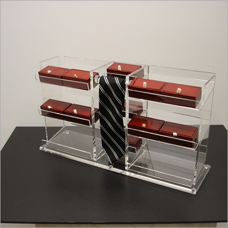 Acrylic Clear Counter Top Tie Display Box