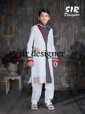 Embroidered Pathani Suit