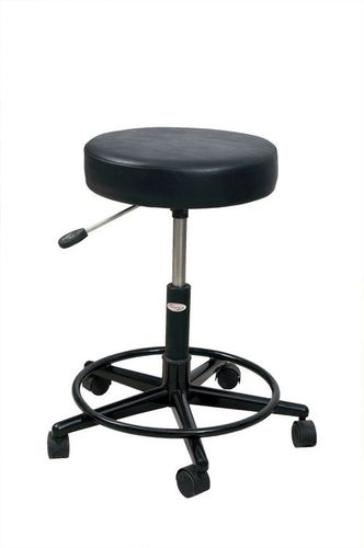 Cushioned Top Adjustable Revolving Stool