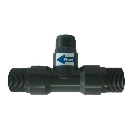 Threaded T Fitting in PP for Insertion Paddle Wheel Flow Sensor