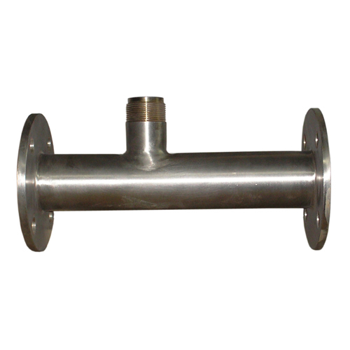 Welded flange ends T-fitting for Insertion Paddle Wheel Flow Sensor