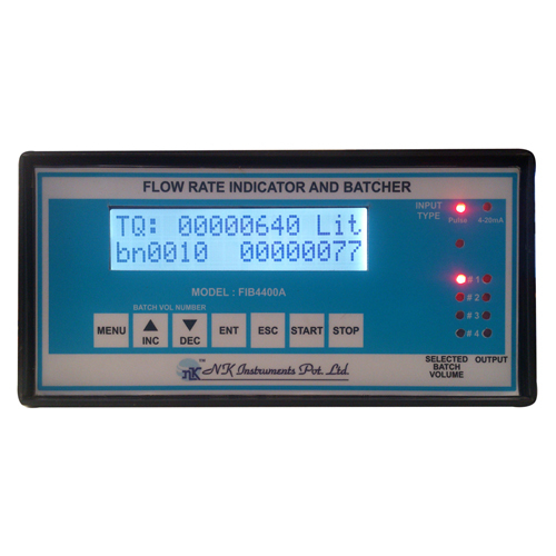 Digital Flow Totalizer with 4 point Batcher