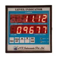 Digital Level & Volume Indicator for Non Linear shaped tank