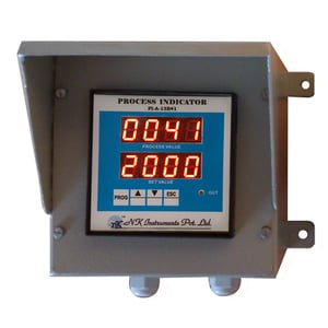 Process Indicator in canopy type wall mounted panel