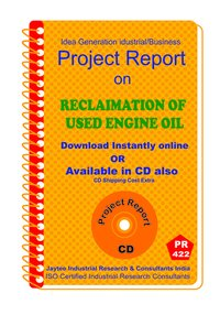 Reclamation of Used Engine oil manufacturing Project ReporteBook